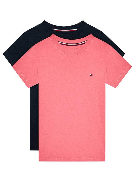 Tommy Hilfiger 2 marškinėlių komplektas UG0UG00307 Rožinė Regular Fit