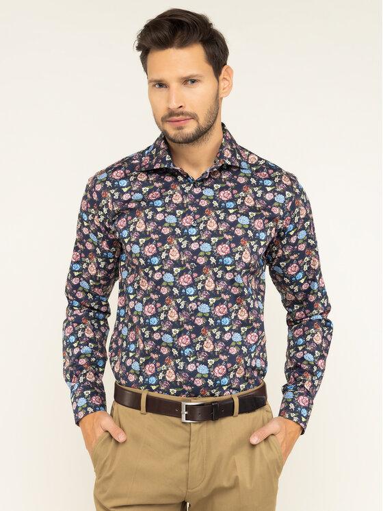 Eton Marškiniai 100000623 Tamsiai mėlyna Slim Fit