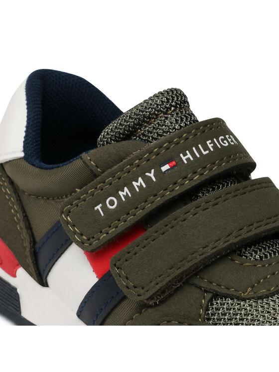 Tommy Hilfiger Tommy Hilfiger Sneakersy Low Out Velcro Sneaker T1B4-30481-0732 M Zielony
