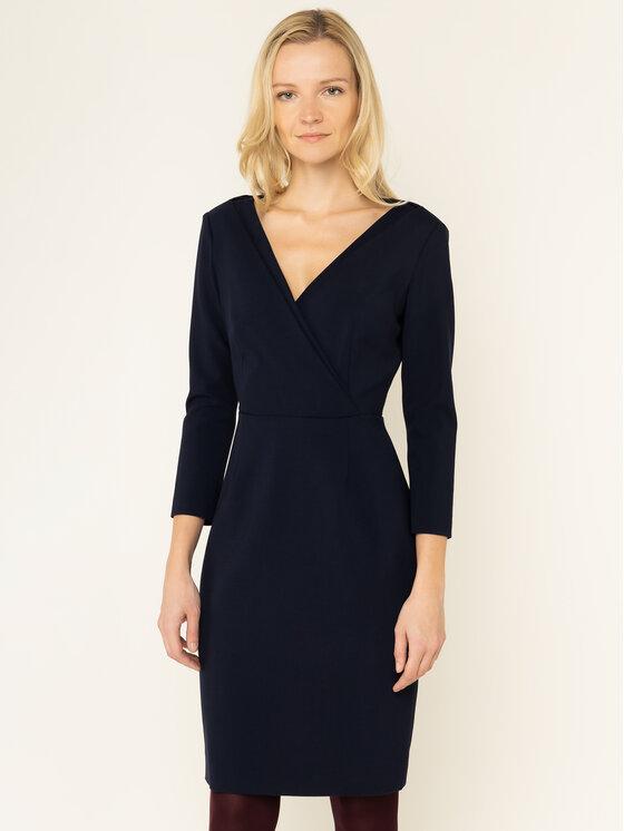 Luisa Spagnoli Kokteilinė suknelė Gori 536308 Tamsiai mėlyna Slim Fit
