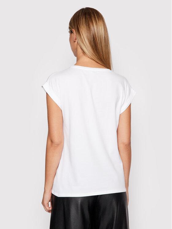 Liu Jo Liu Jo T-shirt WF1252 J5003 Bijela Regular Fit