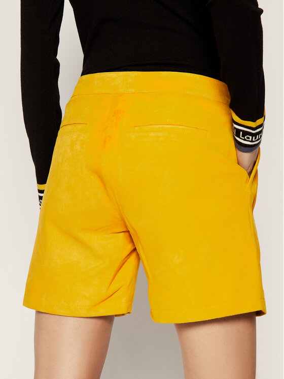 Liu Jo Liu Jo Kožené šortky C19189 P0338 Žltá Regular Fit