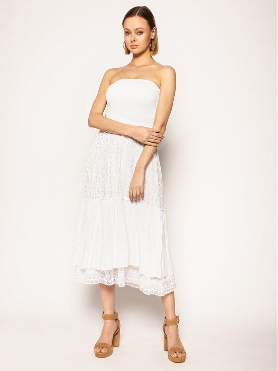 Guess Sukienka letnia Darla W0GD59 WCUZ0 Biały Regular Fit