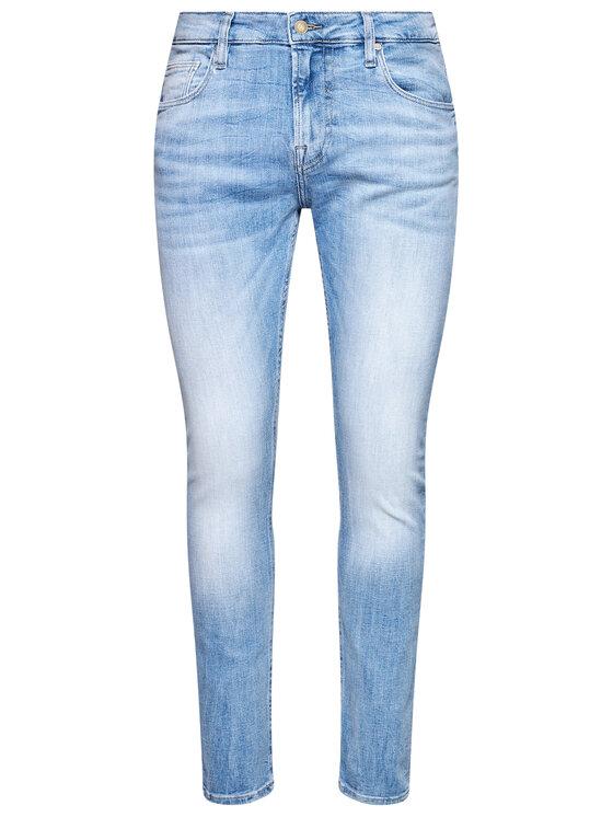 Guess Guess Jeansy Chris M1RA27 D4B73 Niebieski Super Skinny Fit
