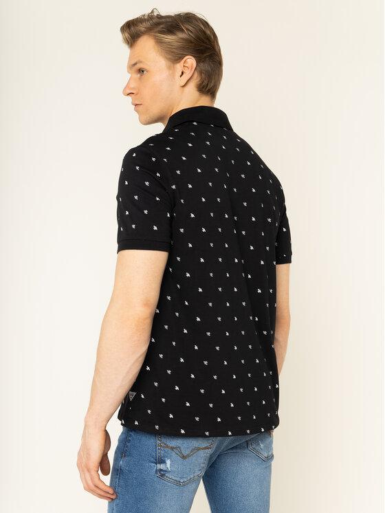 Guess Guess Тениска с яка и копчета M01P55 K85V0 Черен Regular Fit