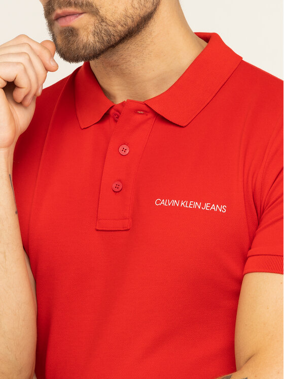 Calvin Klein Jeans Calvin Klein Jeans Polo Deep Depths J30J314538 Czerwony Regular Fit