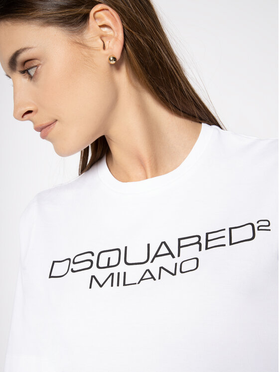 Dsquared2 Dsquared2 T-shirt Milano S75GD0082 Bianco Regular Fit