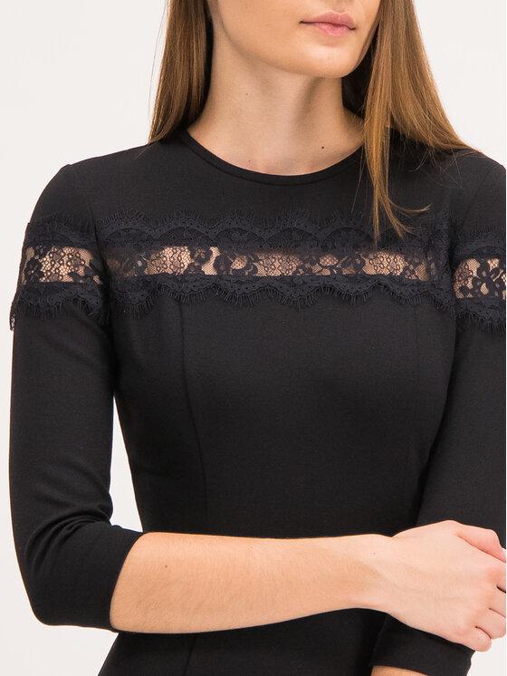 TwinSet TwinSet Φόρεμα κοκτέιλ 192TP2093 Μαύρο Slim Fit