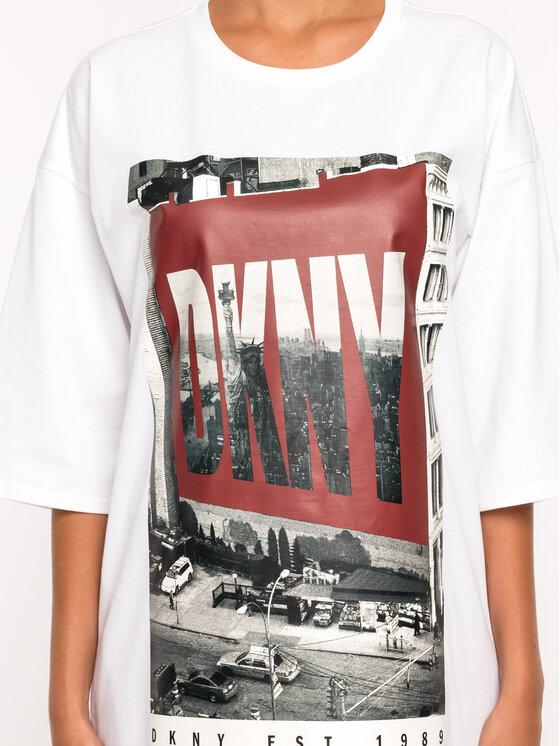 DKNY DKNY Každodenné šaty P9DD9BOB Biela Regular Fit