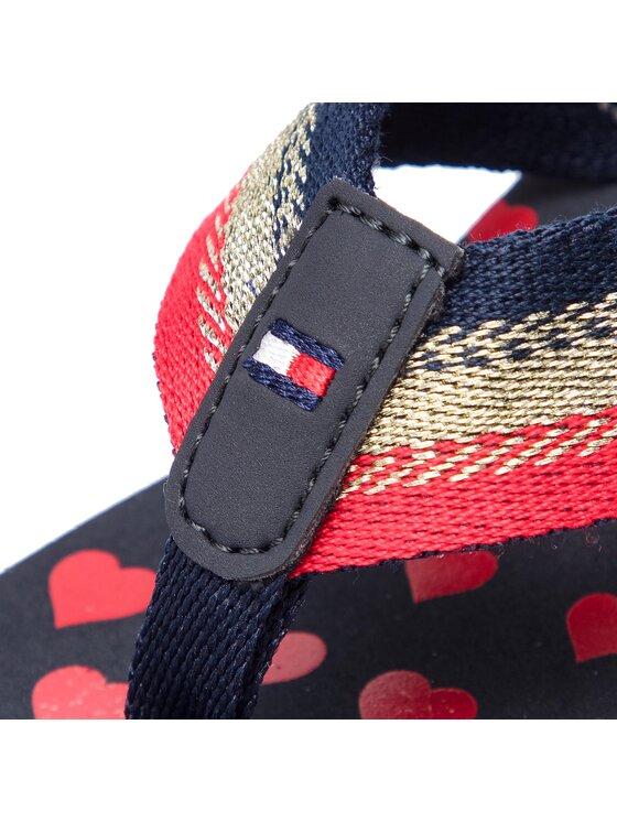 Tommy Hilfiger Tommy Hilfiger Джапанки Heart Print Beach Sandal FW0FW03651 Цветен
