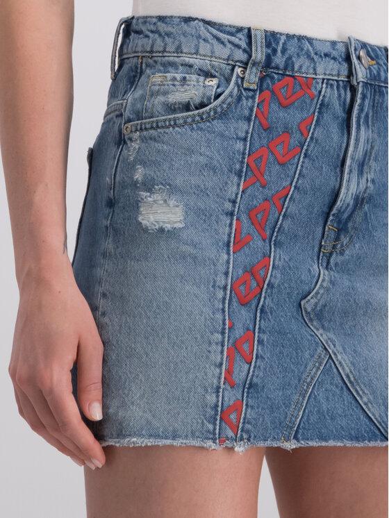 Pepe Jeans Pepe Jeans Džínsová sukňa PL900819 Tmavomodrá Regular Fit