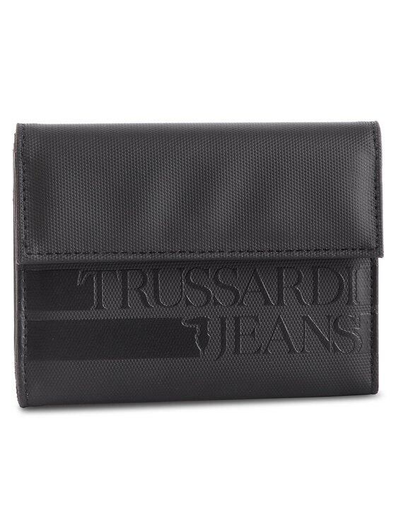 Trussardi Trussardi Jeans Duży Portfel Męski Turati Wallet 71W00045 Czarny