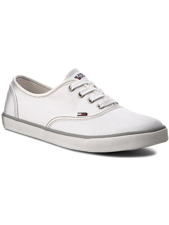Tommy Hilfiger Tommy Hilfiger Πάνινα παπούτσια DENIM Hilton 3F1 FW0FW01027 Λευκό
