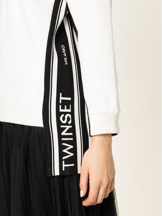 TwinSet TwinSet Bluza 201TP2071 Biały Loose Fit