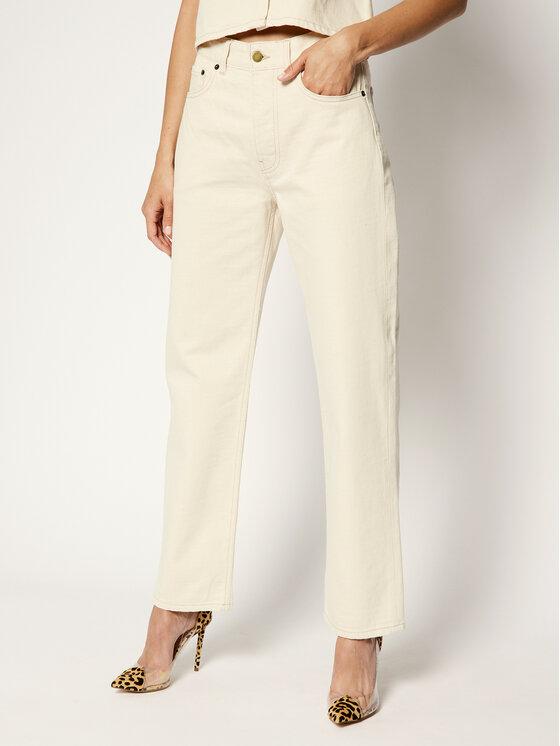 Victoria Victoria Beckham jeansy_straight_fit 2220DJE001077A Smėlio Regular Fit