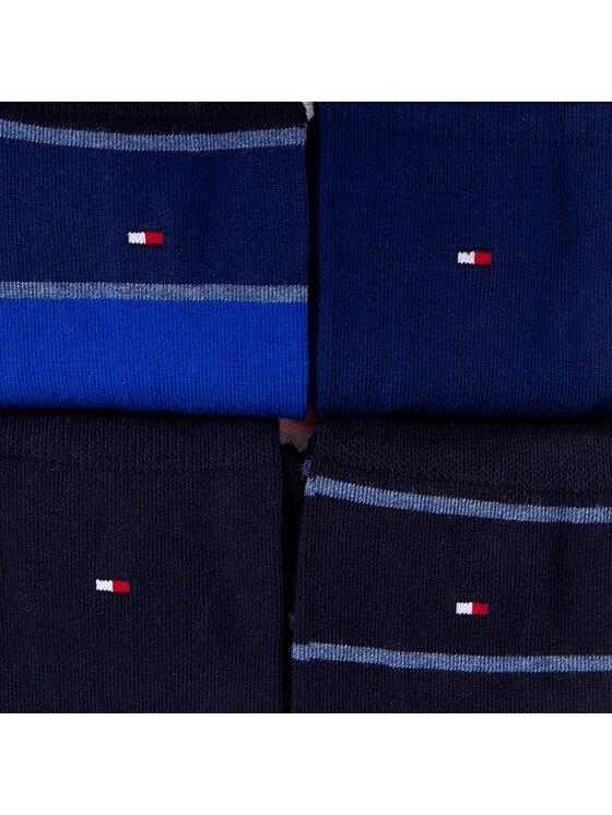 Tommy Hilfiger Tommy Hilfiger Lot de 4 paires de chaussettes hautes homme 452014001 Bleu marine