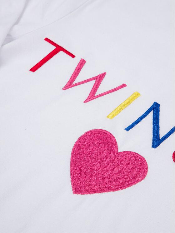 TwinSet TwinSet Bluzka 999GJ2010 Biały Regular Fit