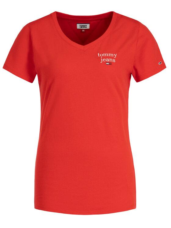 Tommy Jeans Tommy Jeans T-Shirt Essential DW0DW06722 Czerwony Regular Fit