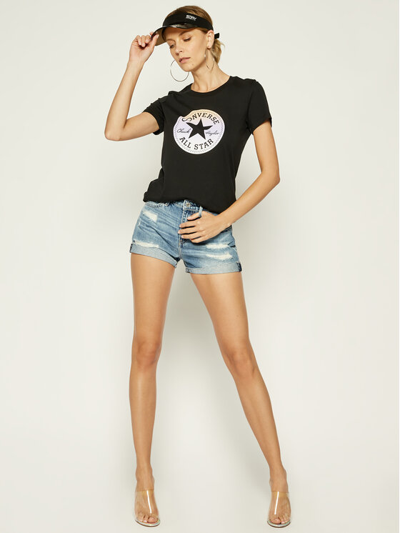 Converse Converse T-Shirt All Star Tee 10018921 Μαύρο Relaxed Fit