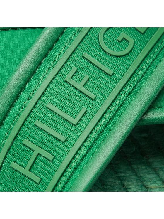 Tommy Hilfiger Tommy Hilfiger Espadrilės Colorful Tommy Flat Sandal FW0FW04159 Žalia