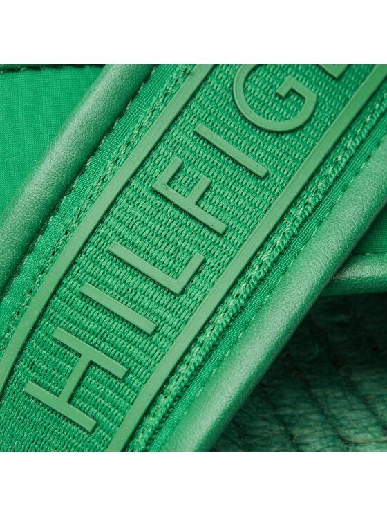 Tommy Hilfiger Tommy Hilfiger Espadrilky Colorful Tommy Flat Sandal FW0FW04159 Zelená
