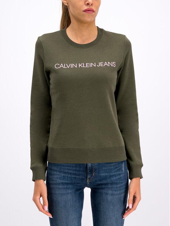 Calvin Klein Jeans Calvin Klein Jeans Sweatshirt Institutional J20J212483 Grün Regular Fit