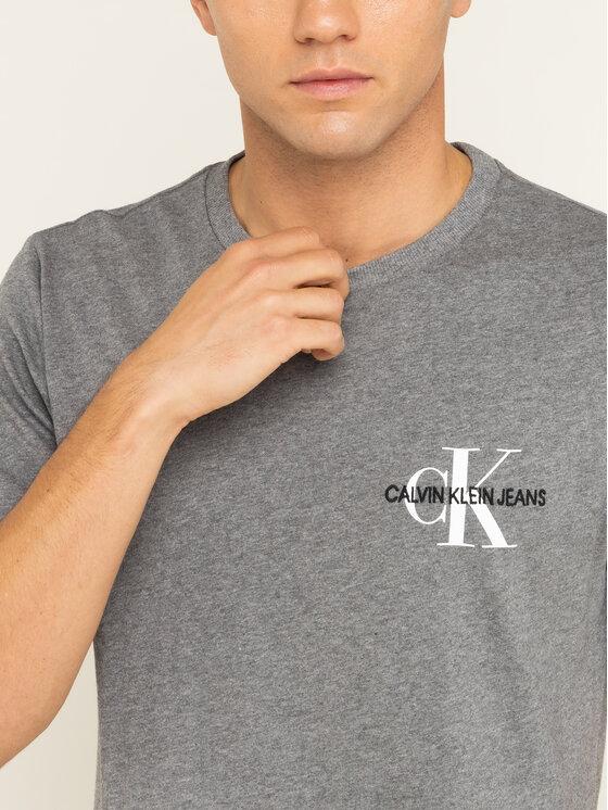 Calvin Klein Jeans Calvin Klein Jeans Marškinėliai Monogram Embro J30J313438 Pilka Regular Fit
