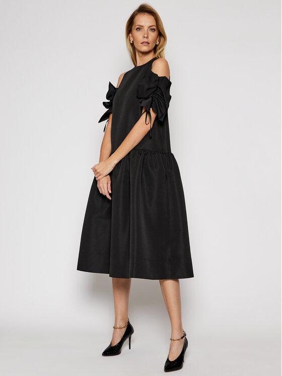 Victoria Victoria Beckham Kokteilinė suknelė Compact Poly Faille 2121WDR002324A Juoda Regular Fit