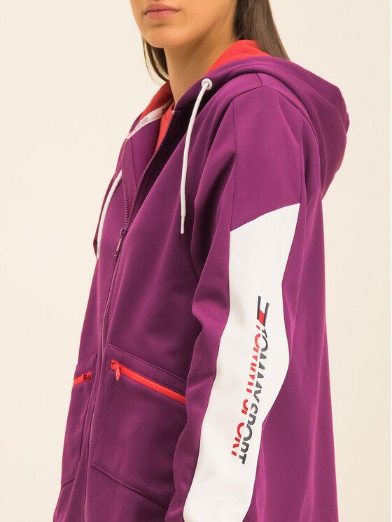 Tommy Sport Tommy Sport Bluza Dwr Fleece S10S100405 Fioletowy Regular Fit