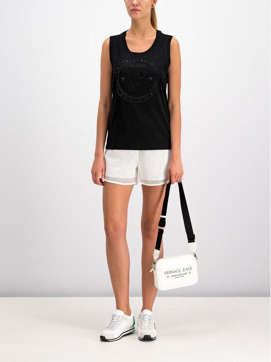 Versace Jeans Versace Jeans Felső D3HTB6E2 Fekete Regular Fit