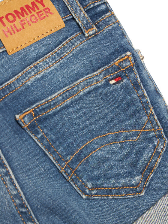 Tommy Hilfiger Tommy Hilfiger Szorty jeansowe Nora Basic KG0KG05773 M Niebieski Skinny Fit