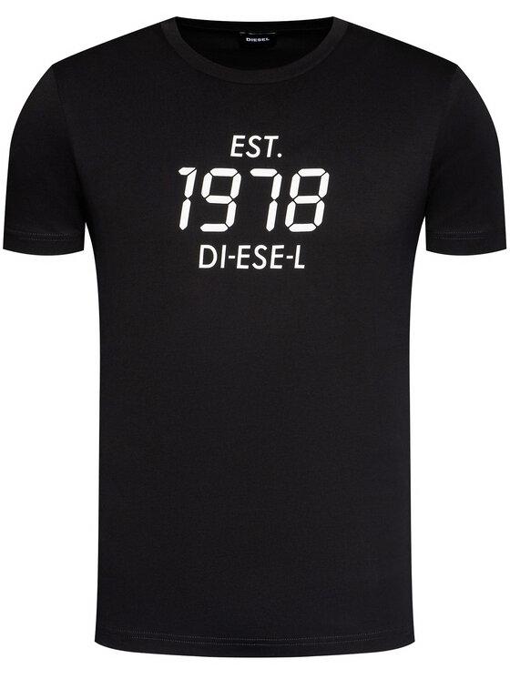 Diesel Diesel Tricou T-Diegos-X42 A00297 0HAYU Negru Regular Fit