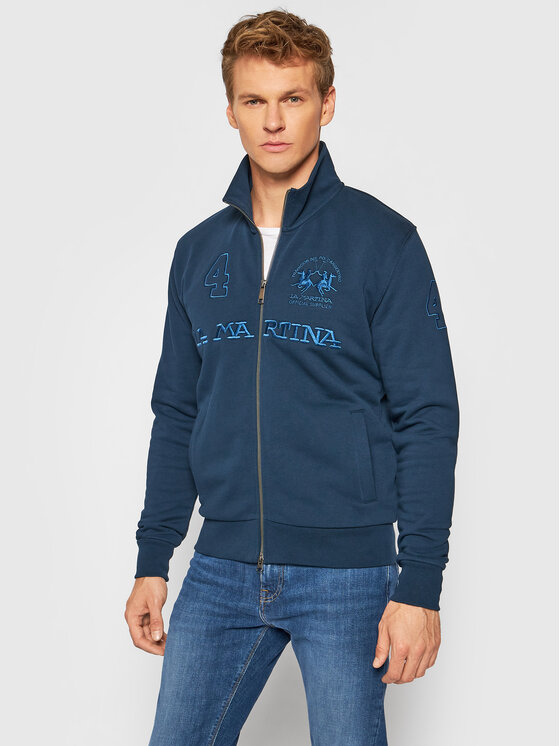 La Martina Džemperis SMF305 FP529 Tamsiai mėlyna Regular Fit