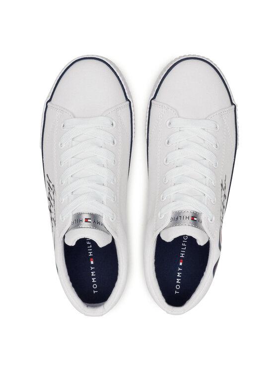 Tommy Hilfiger Tommy Hilfiger Tenisówki Low Cut Lace-Up T3A4-31009-1184 S Biały