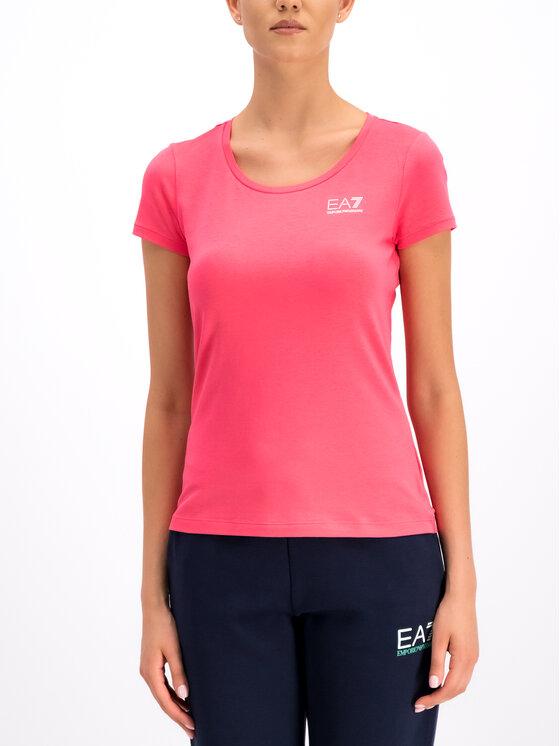 EA7 Emporio Armani EA7 Emporio Armani T-Shirt 3GTT01 TJ28Z 1456 Różowy Regular Fit
