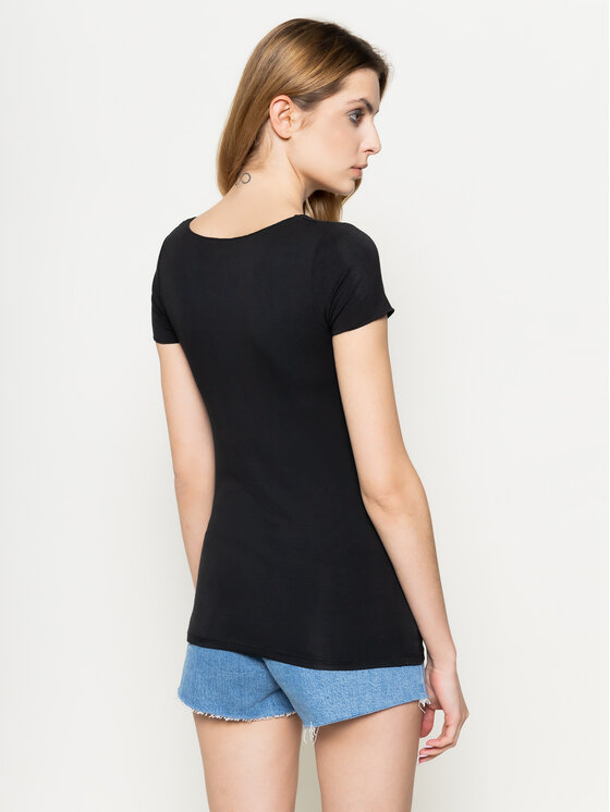 Pepe Jeans Pepe Jeans T-Shirt Cairo PL504336 Schwarz Slim Fit
