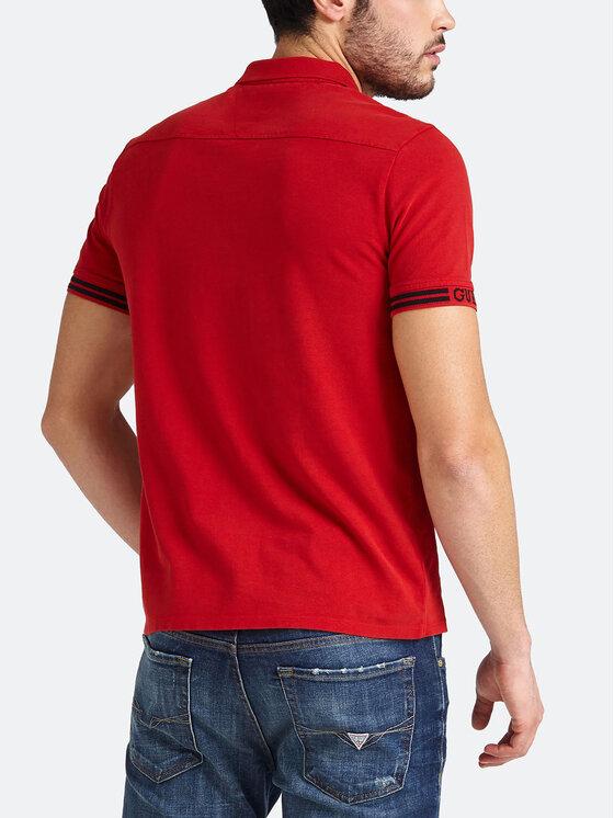 Guess Guess Polokošeľa M93P40 K8510 Červená Slim Fit