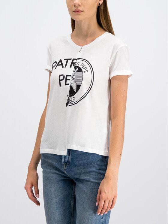 Patrizia Pepe Patrizia Pepe Póló 8J0882/A5D9-W103 Fehér Regular Fit