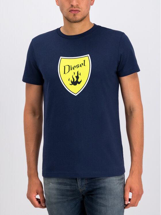 Diesel Diesel T-shirt T-Diego-B2 00SXMH 0091A Blu scuro Regular Fit