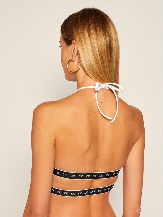 Calvin Klein Swimwear Calvin Klein Swimwear Vrchní část bikin High Apex Triangle KW0KW00904 Bílá