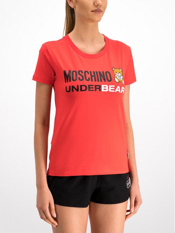 Moschino Underwear & Swim Moschino Underwear & Swim Tričko A1903 9003 Červená Regular Fit