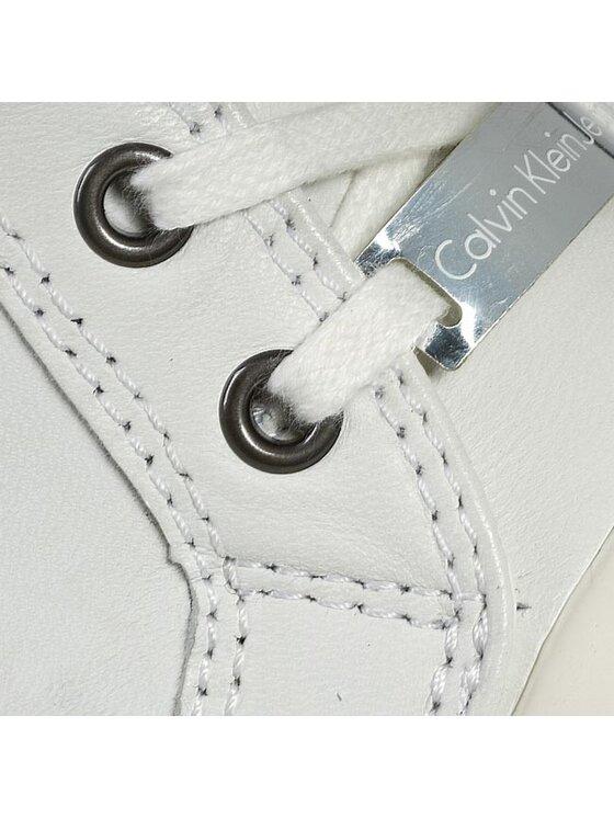 Calvin Klein Jeans Calvin Klein Jeans Sneakersy Violet Brush Off Kid RE9088 Biały