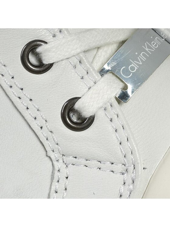 Calvin Klein Jeans Calvin Klein Jeans Sneakersy Violet Brush Off Kid RE9088 Biela