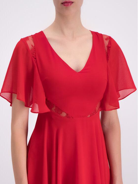 Guess Guess Лятна рокля W93K80 W8SL0 Червен Regular Fit