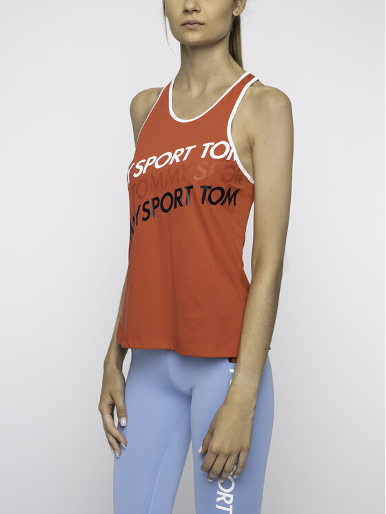 Tommy Sport Tommy Sport Top S10S100184 Červená Regular Fit