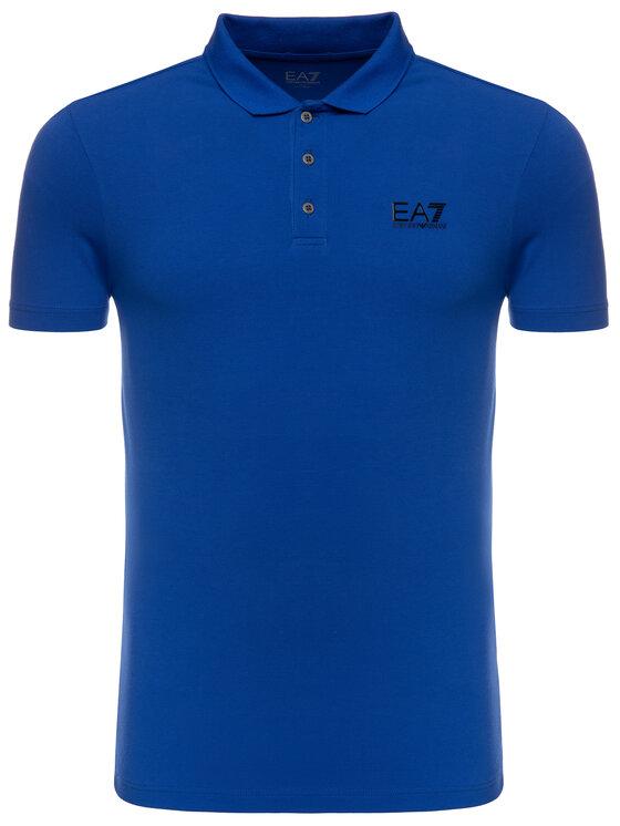 EA7 Emporio Armani EA7 Emporio Armani Polo 3GPF52 PJ04Z 1582 Niebieski Regular Fit