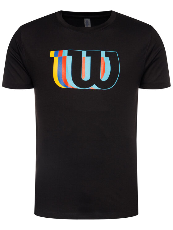Wilson Wilson Тишърт M Blur W Tech Tee WRA779603 Черен Regular Fit