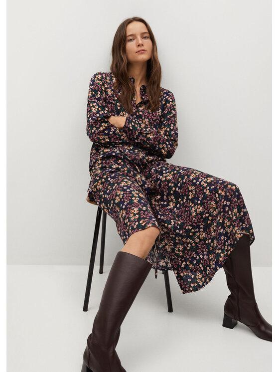 Mango Sukienka koszulowa North 87074021 Kolorowy Regular Fit