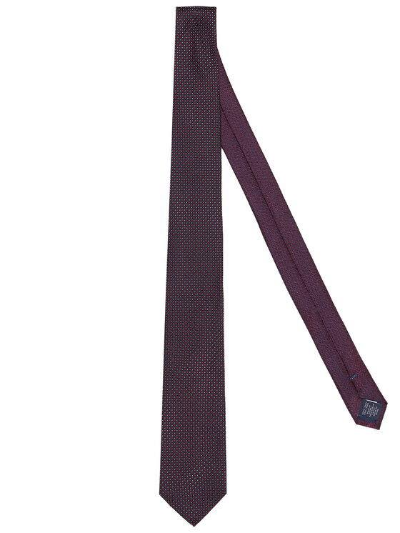 Tommy Hilfiger Tailored Krawat TT0TT08344 Granatowy