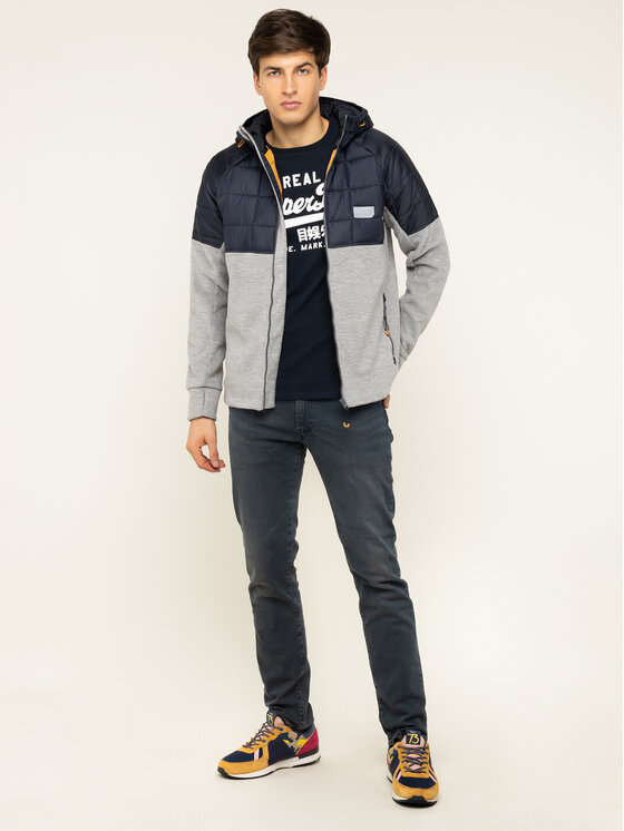 Superdry Superdry Geacă Polar Fleece Hybrid M2000118A Bleumarin Regular Fit